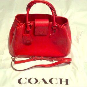Red Coach bag NWOT